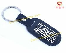 Rolls Royce White Logo and Script Carbon Fiber Key Fob 2x2 Gloss