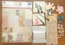 Scrapbooking Prima FAIRY Paper Lot Paper crafting Embellishment Card Flowers