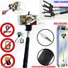 NEW BOXED TELESCOPIC SELFIE STICK MONOPOD WIRED BLUETOOTH REMOTE MOBILE HOLDER