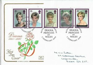 GB Clearance 1998 Cotswold Diana Princess of Wales FDC.Kensington HS