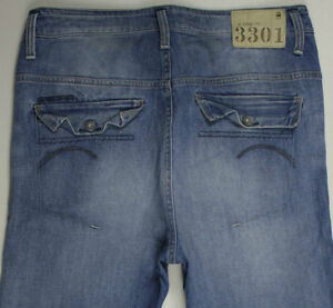 EUC-AS NEW-RRP$369- Womens G-Star Raw 'BLEEKER LOOSE TAPERED WMN' Jeans Size 29