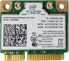 HP 710661-001 756753 784639 intel 7260hmw AC Dual Band Wireless-AC BT mini card