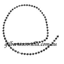 SILVER GLOSS 3mm 5 mtr Wedding Bridal Cake Decorat'n Pearls Fuse Beads on String