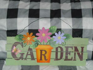 "Country Cottage GARDEN indoor Sign wall decoration 17 1/4"" Wide"