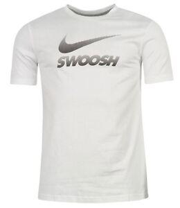 Nike Men's Running Sports Shirt White Black Size M,L,XL New