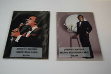 JOHNNY MATHIS - Christmas and Birthday Cards Lot of 2