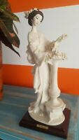 "G. ARMANI Figurine ""Oriental Lady with Column"" Geisha FLOWERS FIGURINE ITALY"