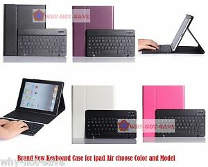 Leather Bluetooth Wireless Keyboard Case Cover with stand for iPad Air 1st 2nd