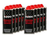 ZIPPO ORIGINAL Zubehör 10 Flaschen BENZIN a125 ml Feuerzeugbenzin NEU