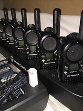 6 use motorola CLS1110 2-way Radios With Gang Charge Excellent Condition