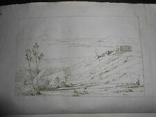 1845 ACHILLE GIGANTE ACQUAFORTE OSSERVATORIO METEOROLOGICO NAPOLI F.ALVINO