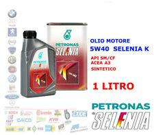 OLIO MOTORE AUTO DIESEL BENZINA SELENIA K 5W40 1LT ACEA A3 API SL CF SINTETICO