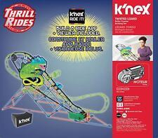 New K'nex Thrill Rides Twisted Lizard Roller Coaster Building Set Motor 402 pcs