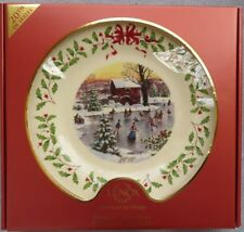 Lenox Holiday 2010 Christmas Collector's Plate Ice Skaters New in Box
