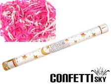 """24"""" Gender Reveal Confetti Streamer Cannon Girl Pink Baby Shower Party STAR"""