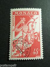 MONACO 1954-59, timbre PREOBLITERE 17, CHEVAL, neuf**, VF MNH STAMP, HORSE
