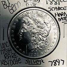 1881 CC  MORGAN SILVER  DOLLAR COIN #7897 $BU GEM  US MINT$RARE KEY DATE
