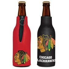 CHICAGO BLACKHAWKS NEOPRENE BOTTLE HOLDER COOZIE KOOZIE COOLER WITH ZIPPER