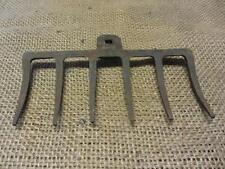 Vintage Cast Iron Garden Rake > Coat Rack Kitchen Antique Farm Old Tool 9330