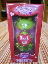 New in Box, Valentine's Day 'Kiss Me' Frances The Frog Bobblehead 5.5'' Tall!!!
