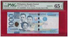 QQ 888888 2013 PHILIPPINES 1000 Peso NGC Aquino III Super Solid No. PMG 65 EPQ
