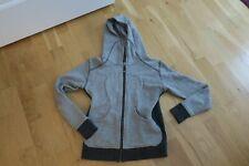 Lululemon Scuba Hoodie Jacket Sweatshirt Size 6  Light gray Striped Zip front