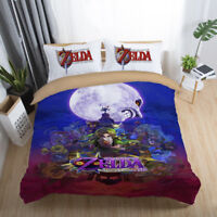 3D The Legend of Zelda Game Bedding Set Quilt Cover Comforter Cover Pillowcase