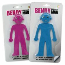 Bendy Man Book Light - Pink / Blue Phone Stand, Desk Organiser, Led Reader