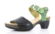 Think Women's Traudi Jungle Soft Nappa Effect Gabo Green Sandal Heels EU 38 9265