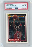 1992 Topps Basketball Michael Jordan #205 PSA 8 NM Graded Card 50 Point Club