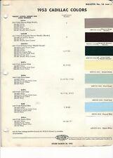 1953 CADILLAC PAINT CHIPS (DUPONT)