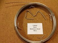 1.6mm x 1m 16 SWG Stainless steel Wire Floristry Craft Bonsai Fishing Lures