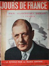 Jours de France N°83 (16/6/1956) De Gaulle - Souverains grecs à Paris -