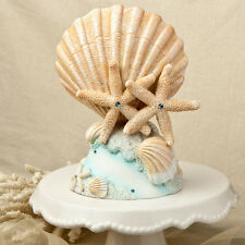 5 Beach Theme Cake Topper Sea Shell Starfish Centerpiece Wedding Event