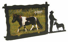 Miniature Horse 3x5H Black Metal Picture Frame