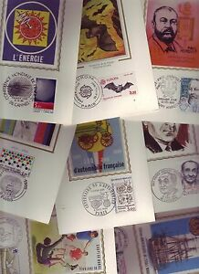 SUPER LOT 100 CARTES MAXIMUM 1er JOUR SOIE DIFFERENTES 1970/1986