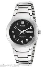 Dress Watch 50M New Day Date Casio Mtp1229D-1A Men's Black Dial Stainless Steel