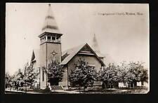 Wadena Minnesota Mn c1908 Rppc Congregational Church