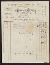 """SAINT-GIRONS (09) USINE de DRAPS en LAINE MERE DU PAYS """"Firmin CAZES"""" en 1908"""