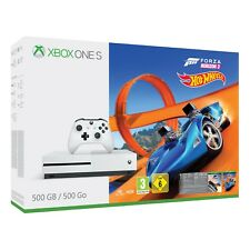 Xbox One S 500GB Console in White with Forza Horizon 3 and Hot Wheels