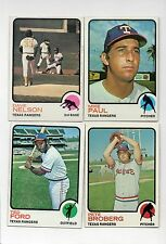 4-1973 topps lot rangers 58 mike paul 111 nelson 162 pete broberg 299 ted ford