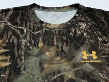 Men's Under Armour Mossy Oak Break Up Camo Shirt Size Large Polyester