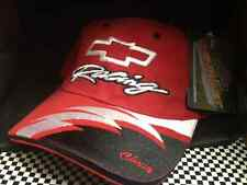 Chevrolet Bow Tie Chevy Racing Checkered Flag Bill Black Red Hat Baseball Cap
