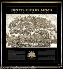 THE SPIRIT OF ANZAC BROTHERS IN ARMS 100 YEARS OF GALLIPOLI PRINT LICENCED ITEM