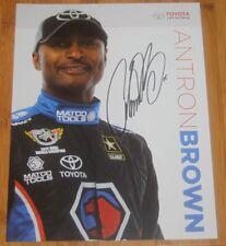 2015 Antron Brown signed Toyota SEMA Show Promo NHRA postcard