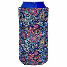 Paisley Pattern Collapsible 16 oz. Can Coolie; Tallboy