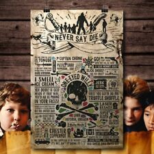The Goonies 80's Retro treasure Movie Metal Aluminium Vintage plaque poster SIGN