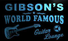 pf1116-b Gibson's Guitar Lounge Beer Bar Pub Room Neon Light Sign
