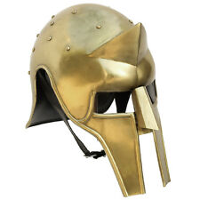 Medieval Roman Gladiator Arena Brass Spike Helmet