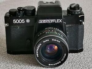 Revueflex 5005 Kamera mit Pentagon Auto 2.8/29mm M42 ( Chinon CE II Memotron )